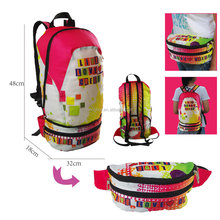 Fashionable foldable bag laptop backpack foldable luggage bag