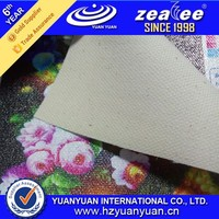 """50"""" glossy 12*12yarn non waterproof yellow pure cotton canvas for inkjet printing"""