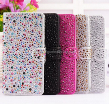 Water-drop Bling bling PU leather case pouch for iphone 6 6S 6 plus 6S plus