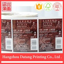 özel ucuz rulo şarap etiketi kağıt sticker etiket çin