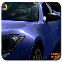 TSAUTOP 1.52*20m 12colors Blue brushed matte chrome full car body sticker