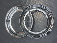 The inner and outer barrels for 3 piece alloy wheels