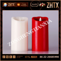 Luxury paraffin wax Christmas candle flower led candles