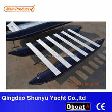 hot!!!(CE)korea pvc material 4.3m inflatable pontoon boats for sale