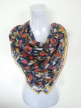 Printed Pattern and Square Style silk crochet scarf pattern