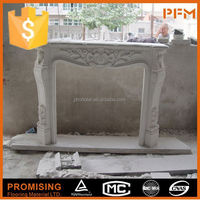 Indoor Carved Cheap artificial marble fireplace surround