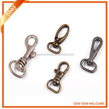 Wholesale cheap Small metal swivel snap hook,clips buckle for bag