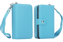 BRG Premium PU Leather Wallet Case, 2 in 1 Detachable Magnetic Flip Cover Folio Carrying Case With Handbag For iPhone 6S Plus