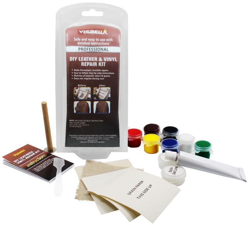 Leather Vinyl Repair Kit Fix Car Boat Seat Rips Burns Holes Leather Furniture Ebay
