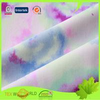 80 nylon 20 spandex lycra printing warp knitted fabric for swimwear