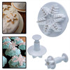 Snowflake Shaped Plunger Sugarcraft Snowflake Fondant Cutter Tools