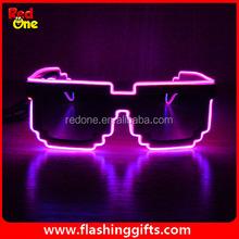 Wholesale New product 2015 light party Led glasses el glasses wedding decoration