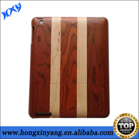 100% Natural Bamboo Wood Wooden Carved Hard Back Cover Case For ipad