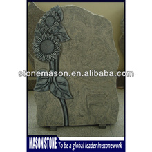 Carved sunflower granite monument for headstone for sale