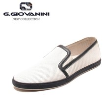 Luxury brand original design WHITE leather custom logo sneaker