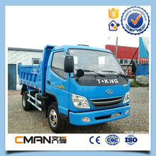 China favorable price T King brand 6 wheeler 2 ton dump trucks for sale