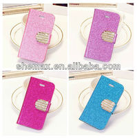 luxury diamond wallet card leather case for iphone 5 5s 5c