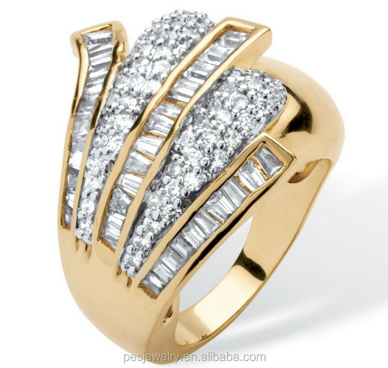 Wholesale 14k gold plated copper zircon ring jewelry buy for Wholesale 14k gold jewelry distributors