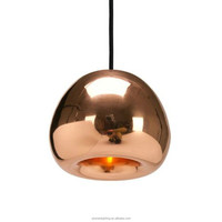 Hot sell Modern Void Light Mini Polished Apple Glass electroplate pendant lamp PLP8035
