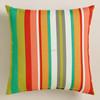 hot sale beautiful Rainbow stirpe soft cushion pillow