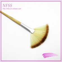 custom lable cosmetic brushes bamboo fan brush for makeup