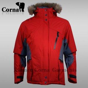 Inverno Mountaining snowmobile giacca con cappuccio di pelliccia