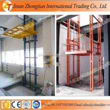 jinan zhongtian Hydraulic cargo lift goods lift guide rail elevator wall mounted indoor outdoor lifter warehouse lifter