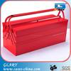 red professional folding steel truck tool box
