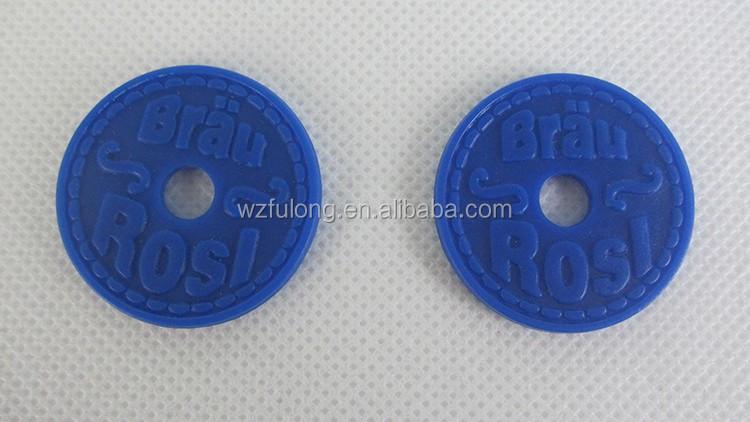 Promocional jogo de tabuleiro trolley token de moeda de plástico em relevo