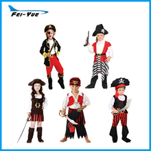 Popular Kids Halloween Costumes Girl Boy Pirate Cosplay