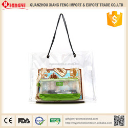 Semitransparent custom made pvc wholesale cheap shopping bag