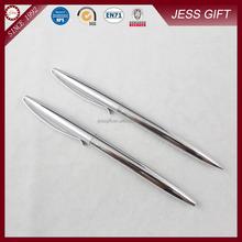 Light silver color metal ballpoint pen twist ball pen for promotional gift