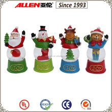 """4.1""""resin standing santa claus&Snowman&deer&bear with water globe for Christmas,festival decor"""