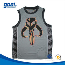 100%polyester breathable wholesale cheap lastest design college basketball jersey