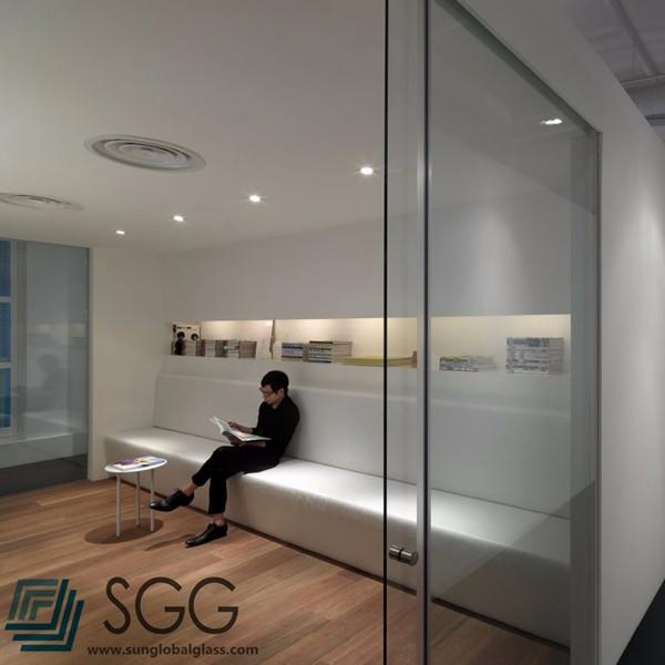 Ufficio porta/porta del bagno senza telaio in vetro temperato ...