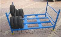 Heavy duty steel portable truck tire rack/warehouse stacking tire rack