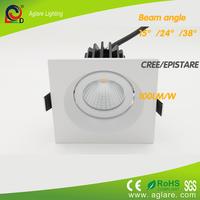 2015 new product 9w square cob led down light