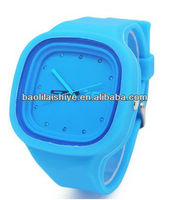 Vogue everlasting boys and girls wit watch silicon quantum watch with quality watch cufflinks