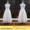 Real Pictures Appliqued Lace Tea Length Alibaba Wedding Dress Patterns