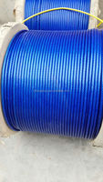 dark blue plastic coated steel wire rope