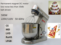 5 liter food mixer stainless steel planetary food mixer