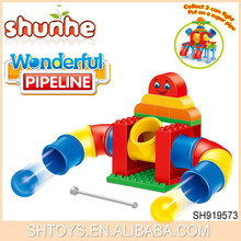 2015 Newest Arrival Creative Idea 3 Design Assorted Educational Wonderful Plastic Pipeline Building Block