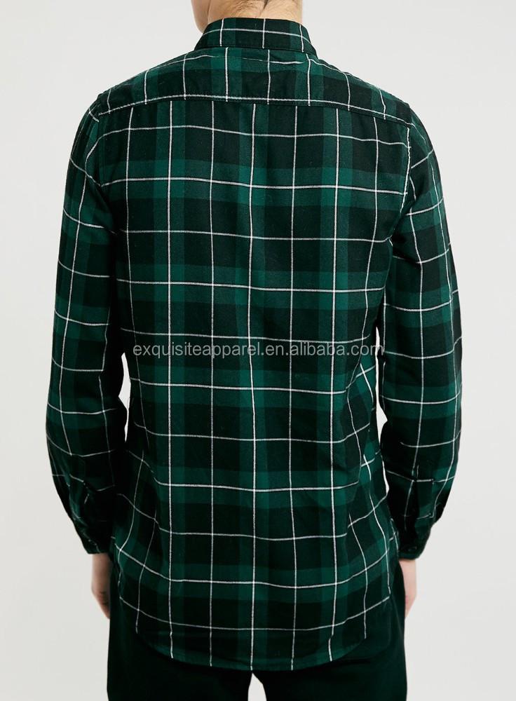 2015 Mens Gren Tartan Long Sleeve Shirts Wholesale Custom