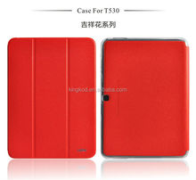 Hot factory price leather flip tablet cover for samsung galaxy tab 4 t530