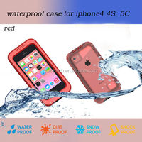 2014 New Products Wholesale Cheap Mobile Phone Waterproof Case for Apple iphone 4 4s 5c