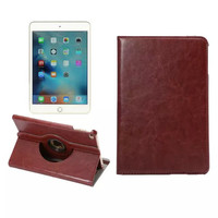 High quality Auto-wake 360 Rotating silk PU leather stand tablet case for ipad mini4