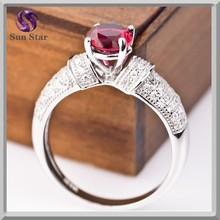 925 sterling silver gemstone rings pave setting intense zircons