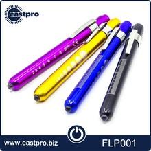 Manufacture cheap custom yellow white or UV LED aluminum alloy medical pen light