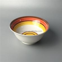 large retro vortex melamine kitchen bowls with inslualed base
