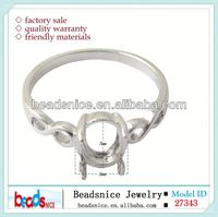 Beadsnice ID 27343 Sterling silver rings setting for oval gemstone fit 7x5mm oval 925 silver